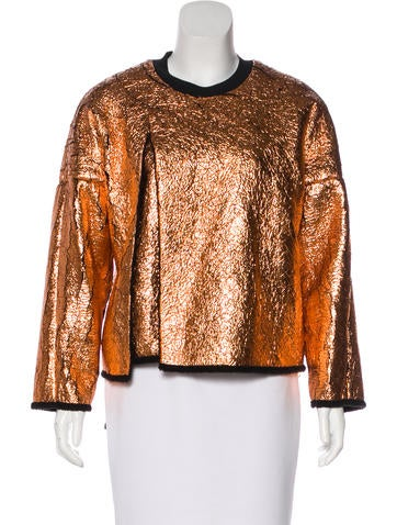 3.1 Phillip Lim Layered Metallic Sweatshirt None