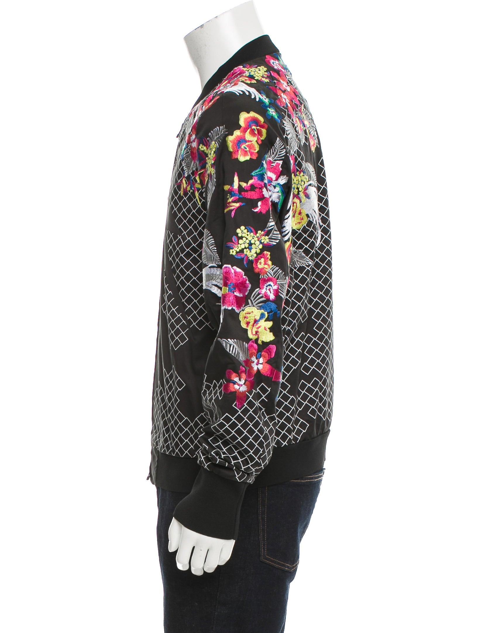 Phillip lim embroidered floral bomber jacket