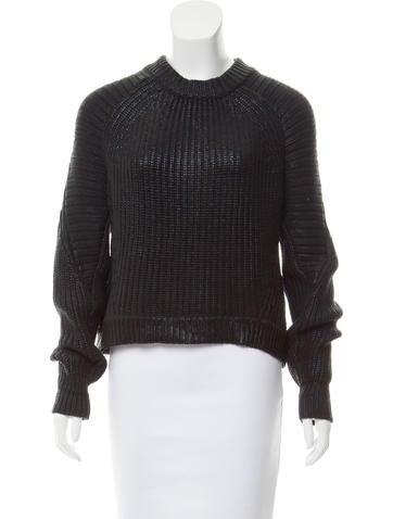 3.1 Phillip Lim Long Sleeve Crew Neck Sweater None