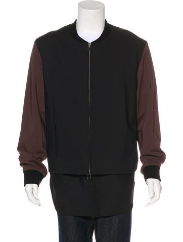 3.1 Phillip Lim Woven Layered Jacket None