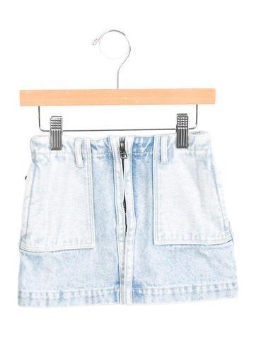3.1 Phillip Lim Girls' Denim Mini Skirt None