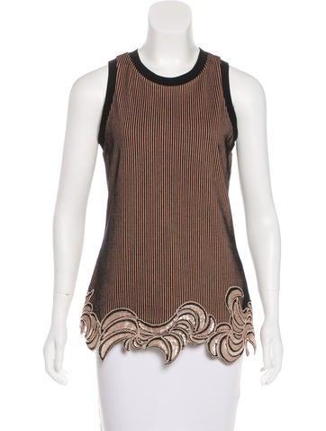 3.1 Phillip Lim Embellished Knit Top None