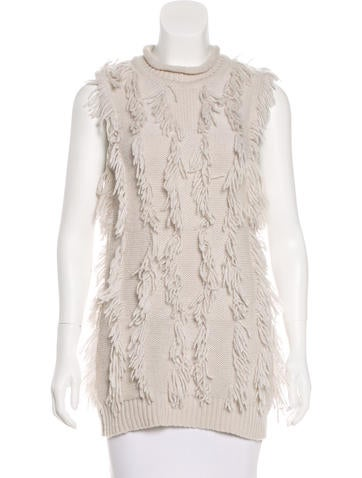 3.1 Phillip Lim Fringe-Accented Knit Top None