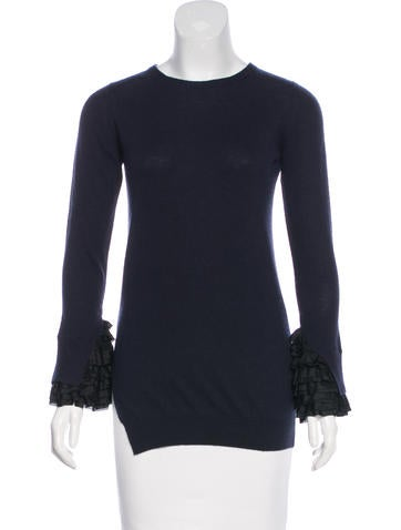 3.1 Phillip Lim Wool Ruffle-Accented Sweater None