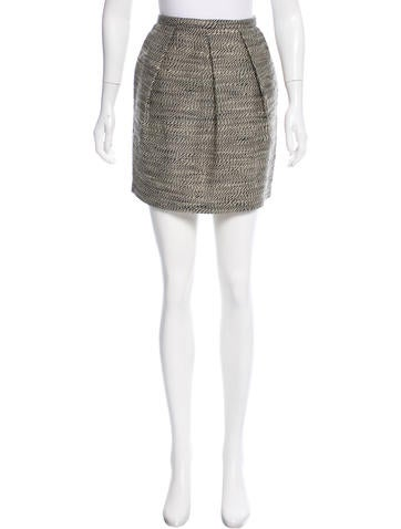 3.1 Phillip Lim Pleated Wool Skirt None