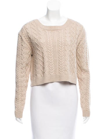 3.1 Phillip Lim Cropped Wool Sweater None