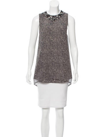 3.1 Phillip Lim Silk Beaded Top None