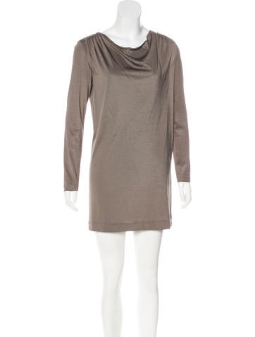3.1 Phillip Lim Cowl Neck Long Sleeve Dress None