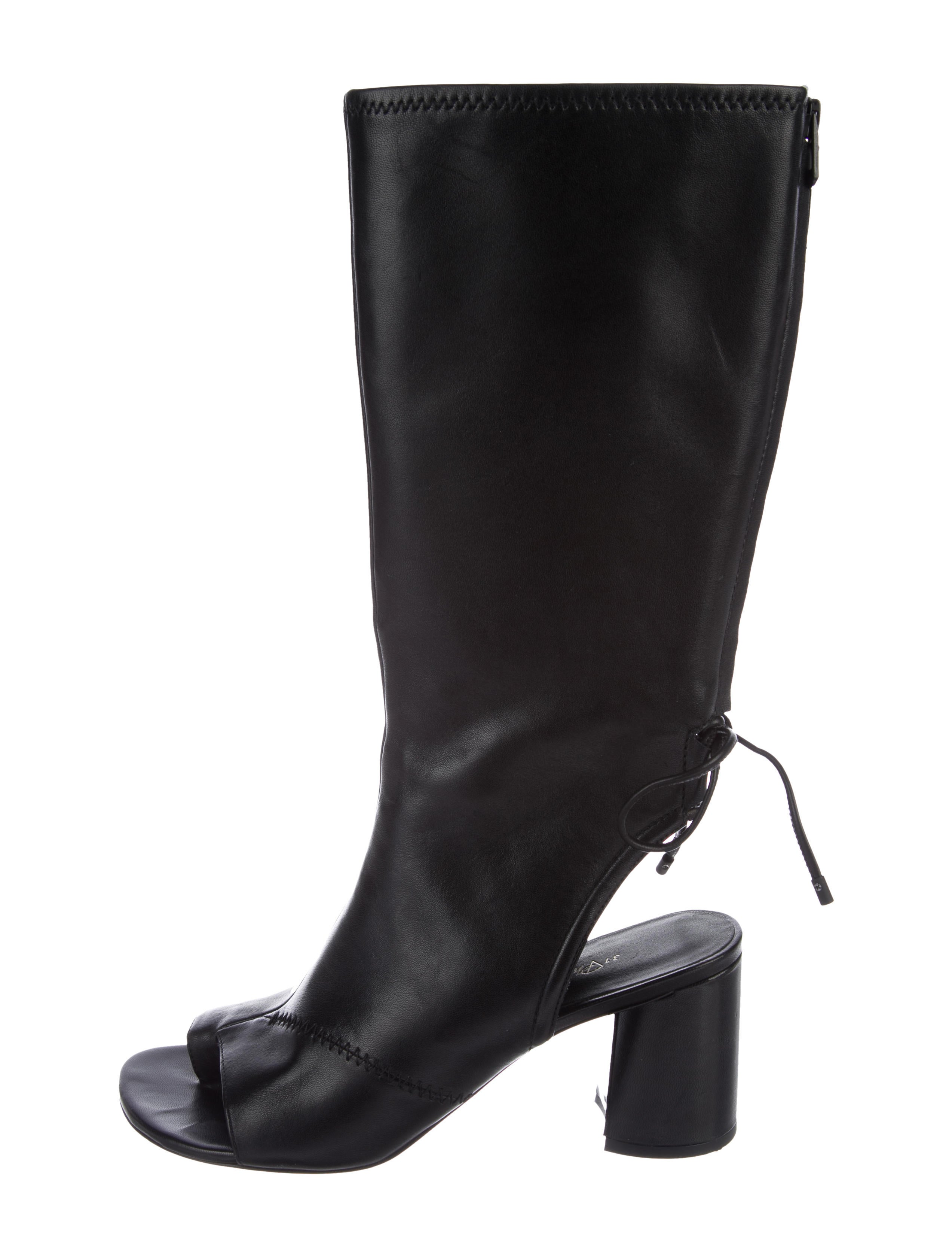 outlet huge surprise 3.1 Phillip Lim Leather Cutout Mid-Calf Boots cheap price original KoKWvxzRUU