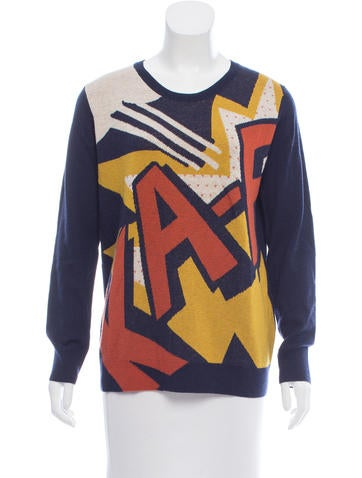 3.1 Phillip Lim Intarsia Patterned Wool Sweater None