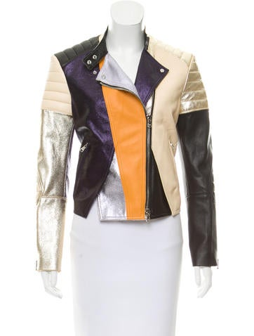 3.1 Phillip Lim Metallic Moto Jacket None