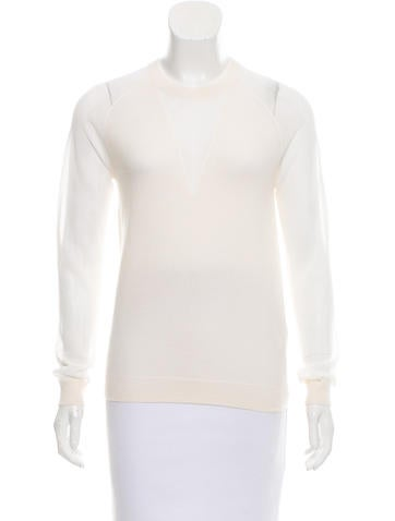 3.1 Phillip Lim Long Sleeve Wool Sweater None
