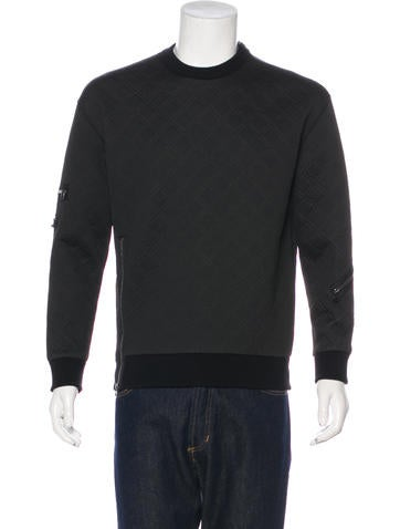 3.1 Phillip Lim Zip-Accented Neoprene Sweatshirt None
