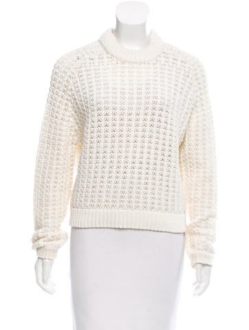 3.1 Phillip Lim Oversize Open-Knit Sweater None