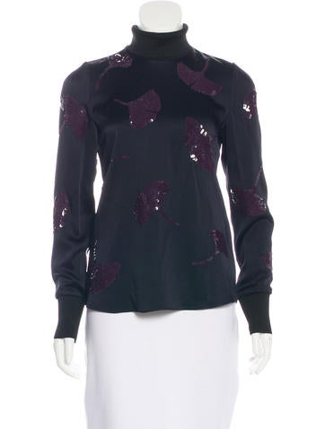 3.1 Phillip Lim Embellished Silk Blouse None