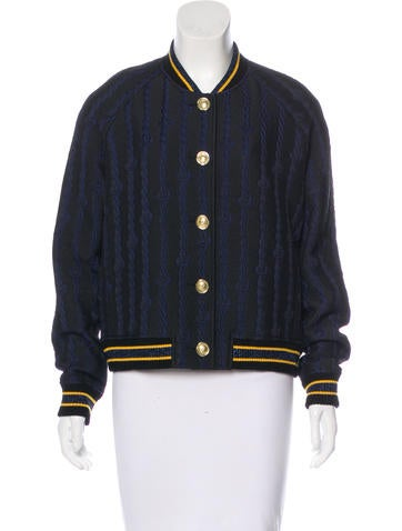 3.1 Phillip Lim Embroidered Bomber Jacket None