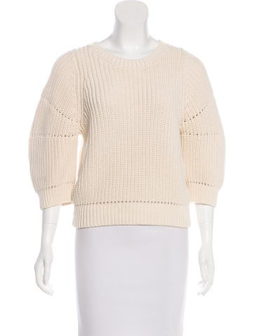 3.1 Phillip Lim Rib-Knit Long Sleeve Sweater None