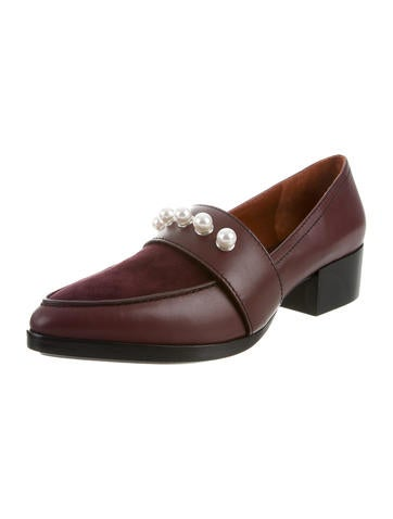 cheapest price cheap sale finishline 3.1 Phillip Lim Quinn Pearl-Embellished Loafers w/ Tags Z77fhyMEH