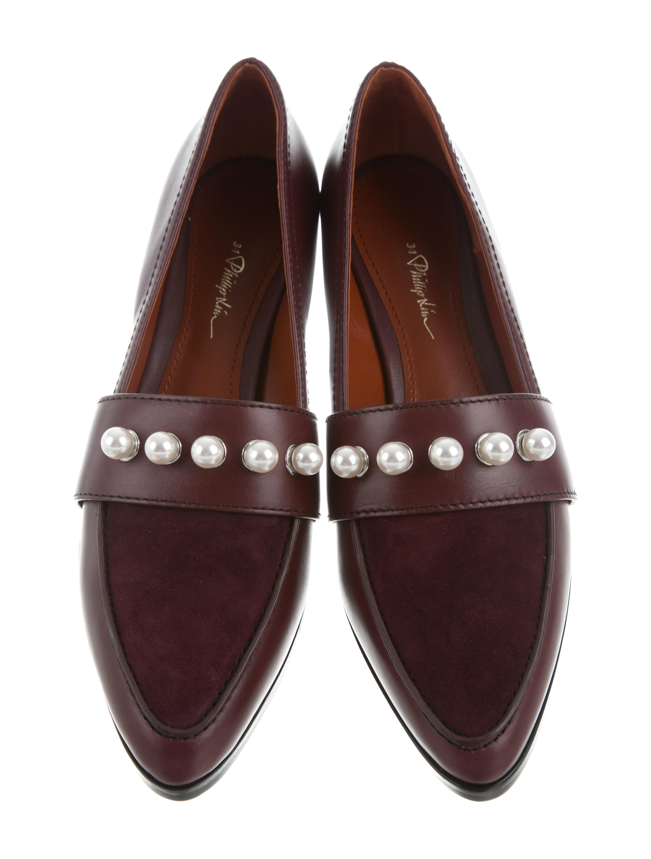 3.1 Phillip Lim Quinn Pearl-Embellished Loafers w/ Tags buy online with paypal z7JGiOG