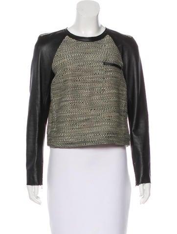 3.1 Phillip Lim Long Sleeve Wool Top None