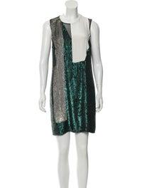 Silk Mini Dress w/ Tags image 1