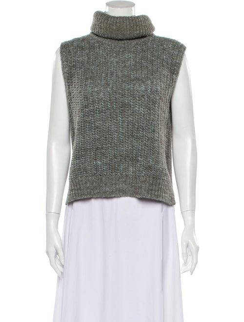 3.1 Phillip Lim Sleeveless Turtleneck Sweater Grey