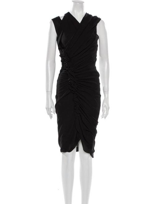 3.1 Phillip Lim Asymmetrical Midi Dress Black