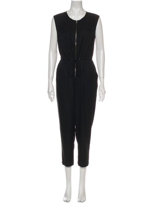 3.1 Phillip Lim Silk Crew Neck Jumpsuit Black