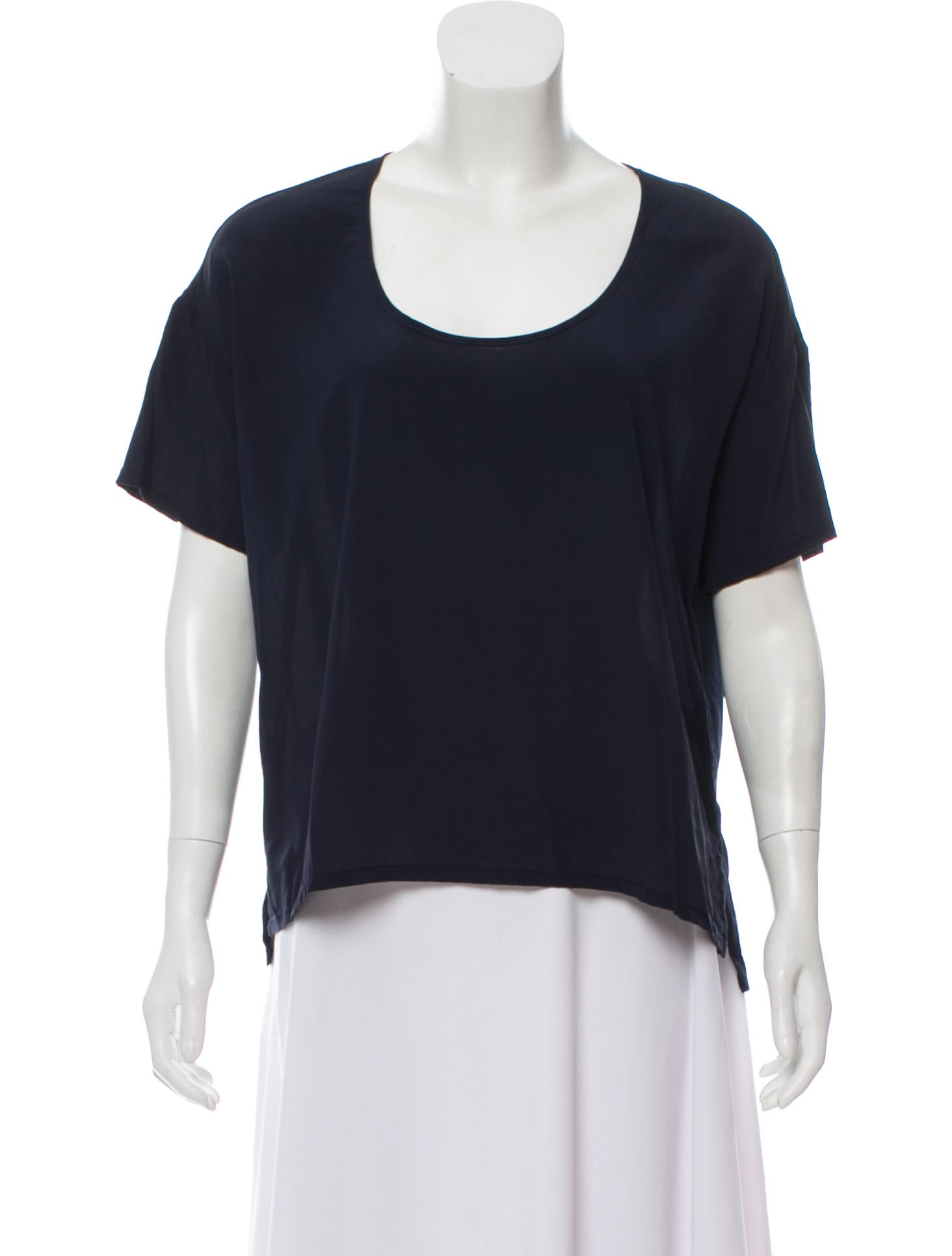 Bella Luxx Short Sleeve Silk Top Clothing W3320045 The Realreal