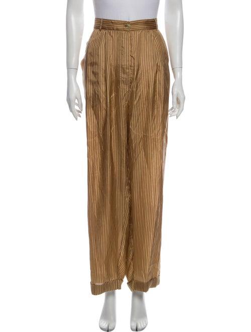 Mes Demoiselles Silk Striped Pajamas w/ Tags Brown