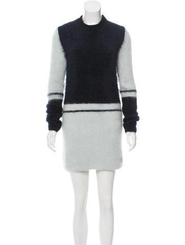 Atto Textured Angora & Wool-Blend Dress None