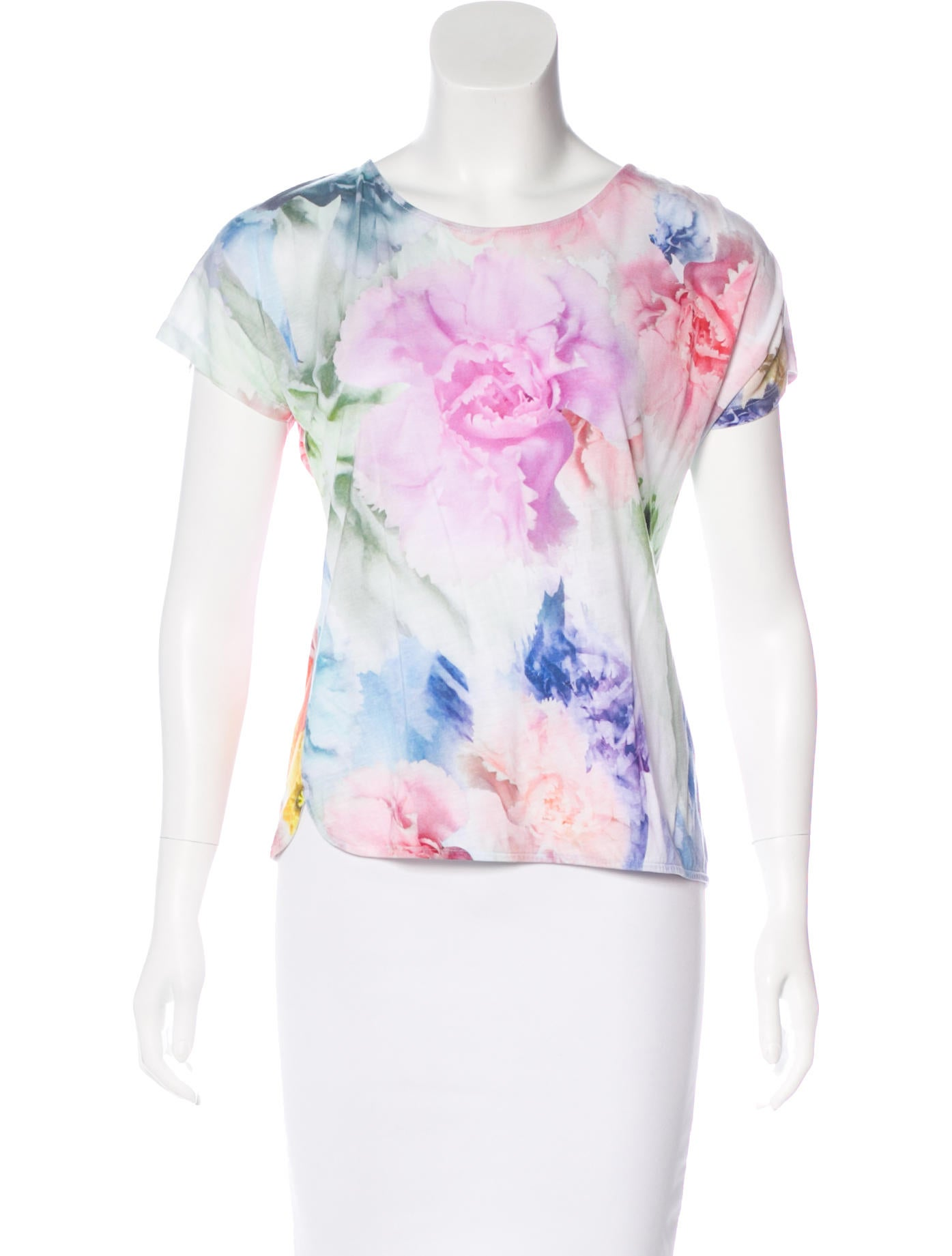 Ted Baker Floral Print Short Sleeve T Shirt Clothing