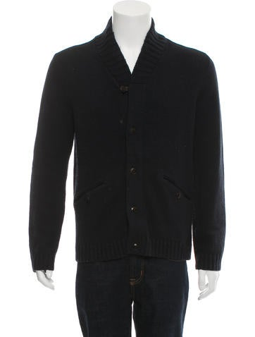 Ted Baker Rib Knit Button-Up Cardigan None