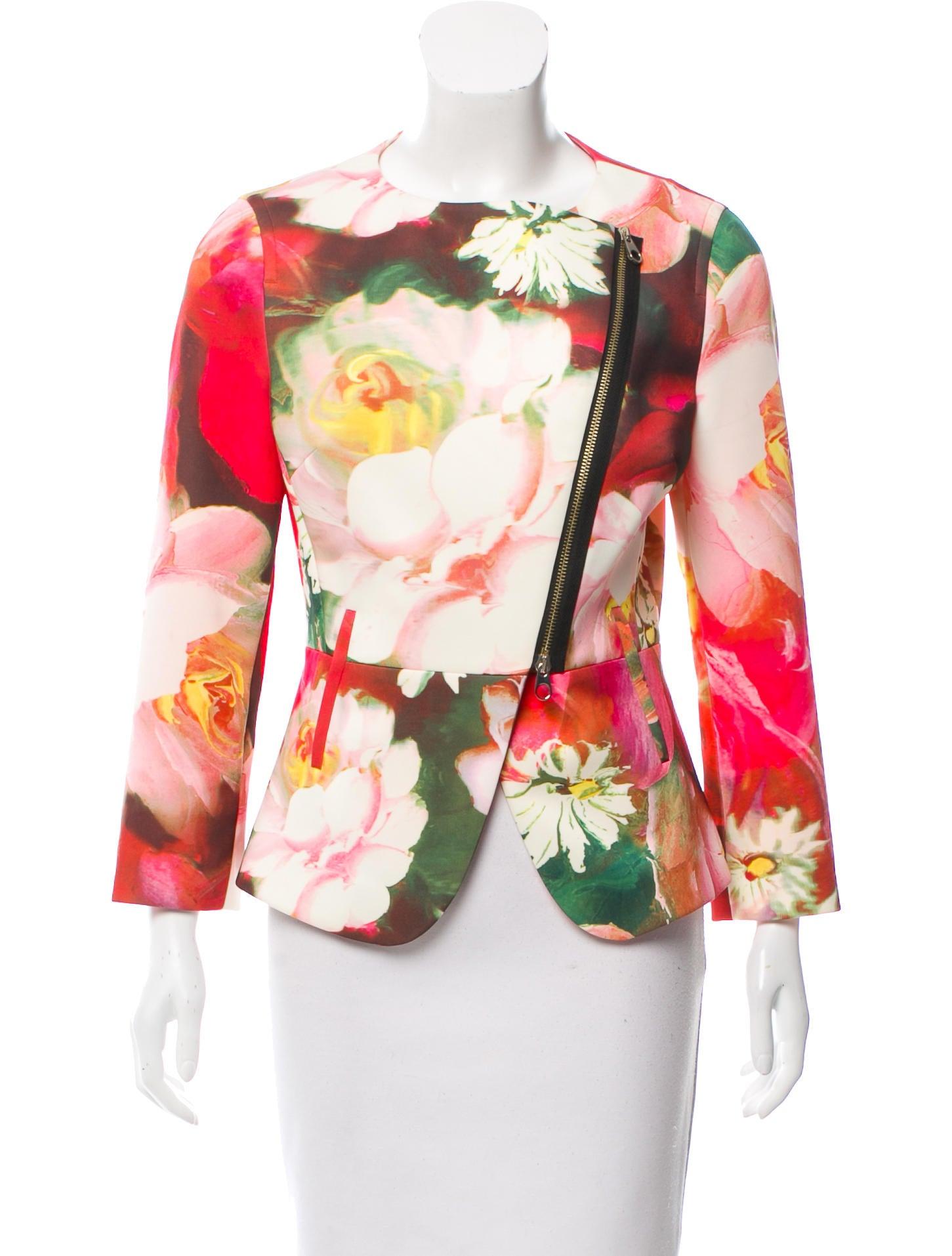 1197214d40ff9 Ted baker neoprene floral print jacket clothing jpg 1451x1914 Ted baker  floral jacket
