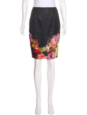 Floral Knee-Length Skirt