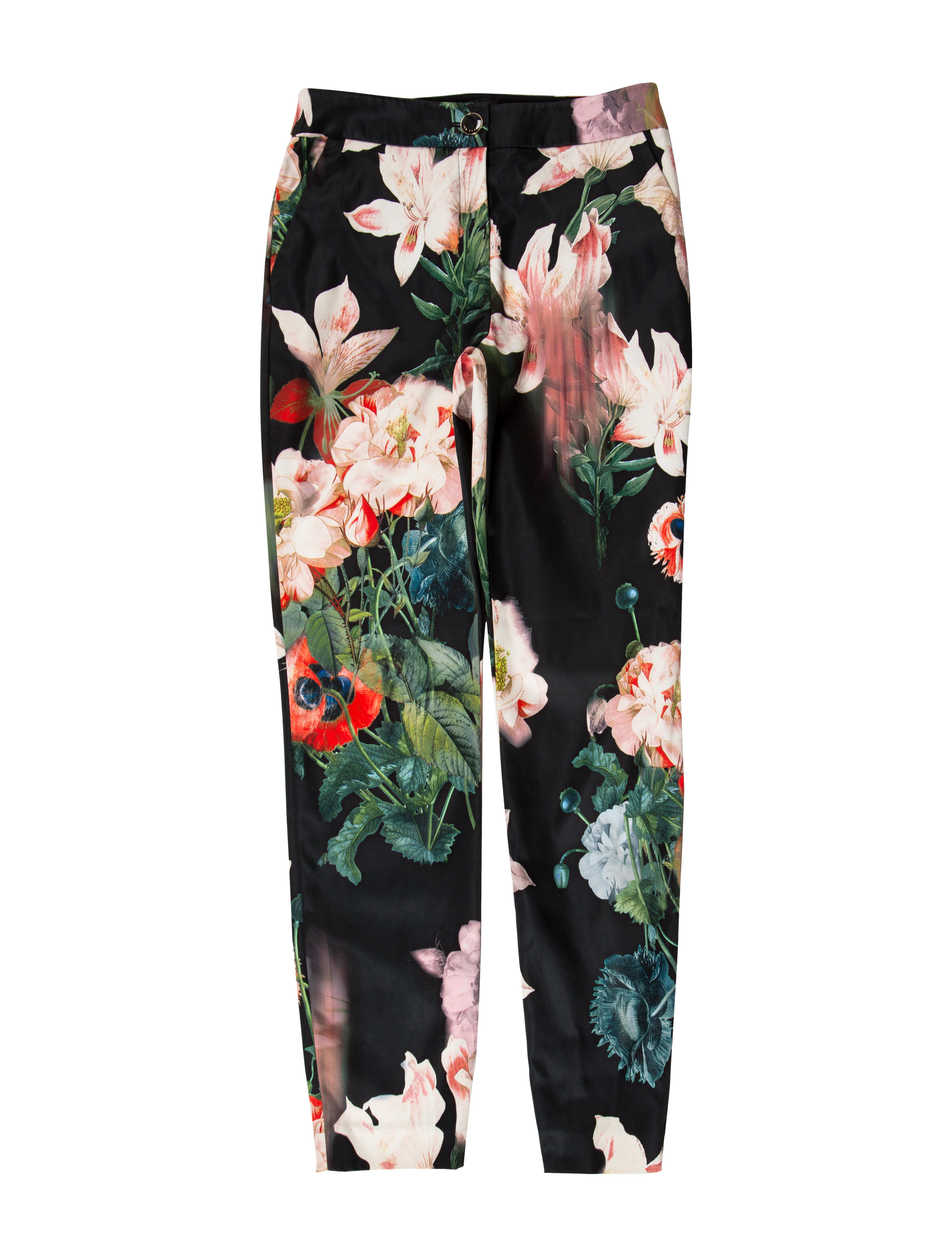 dd7f65fc9532 Ted Baker Floral Print Mid-Rise Pants - Clothing - W3B20966