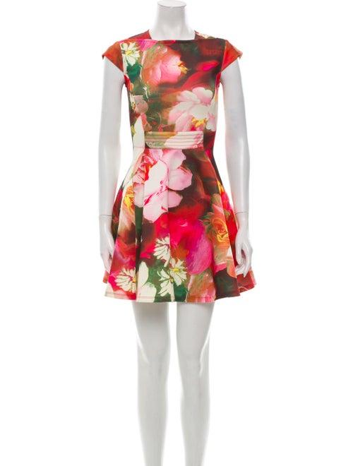 Ted Baker Floral Print Mini Dress Pink