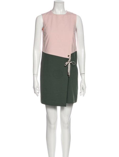 Ted Baker Colorblock Pattern Mini Dress Pink