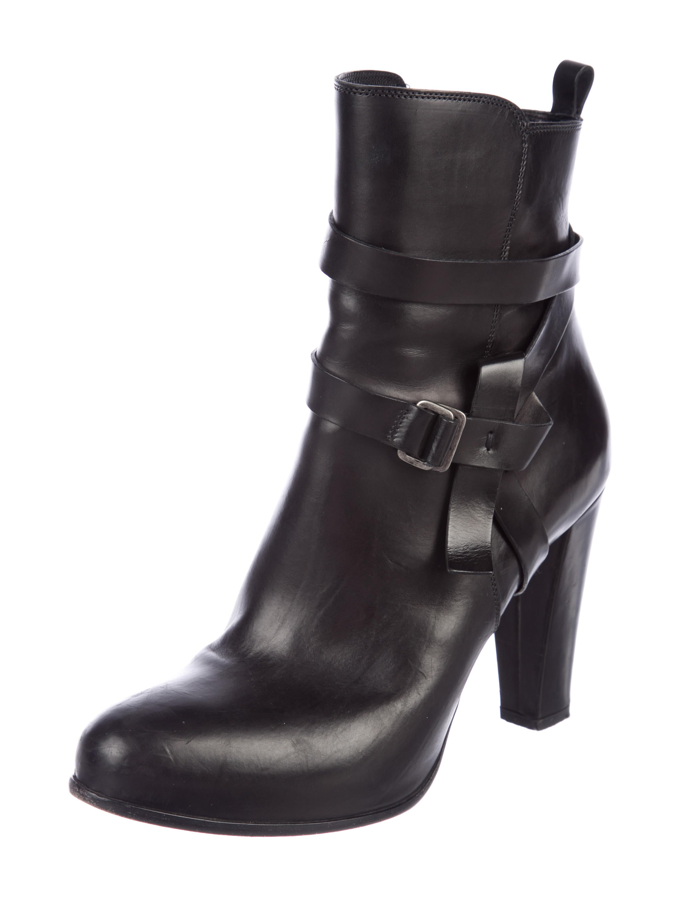 Sartore Leather Round-Toe Ankle Boots geniue stockist 5dkQhC