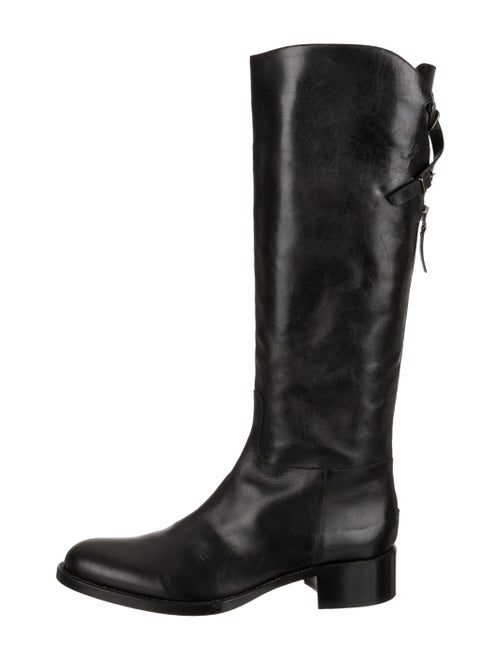 Sartore Leather Knee-High Boots Black