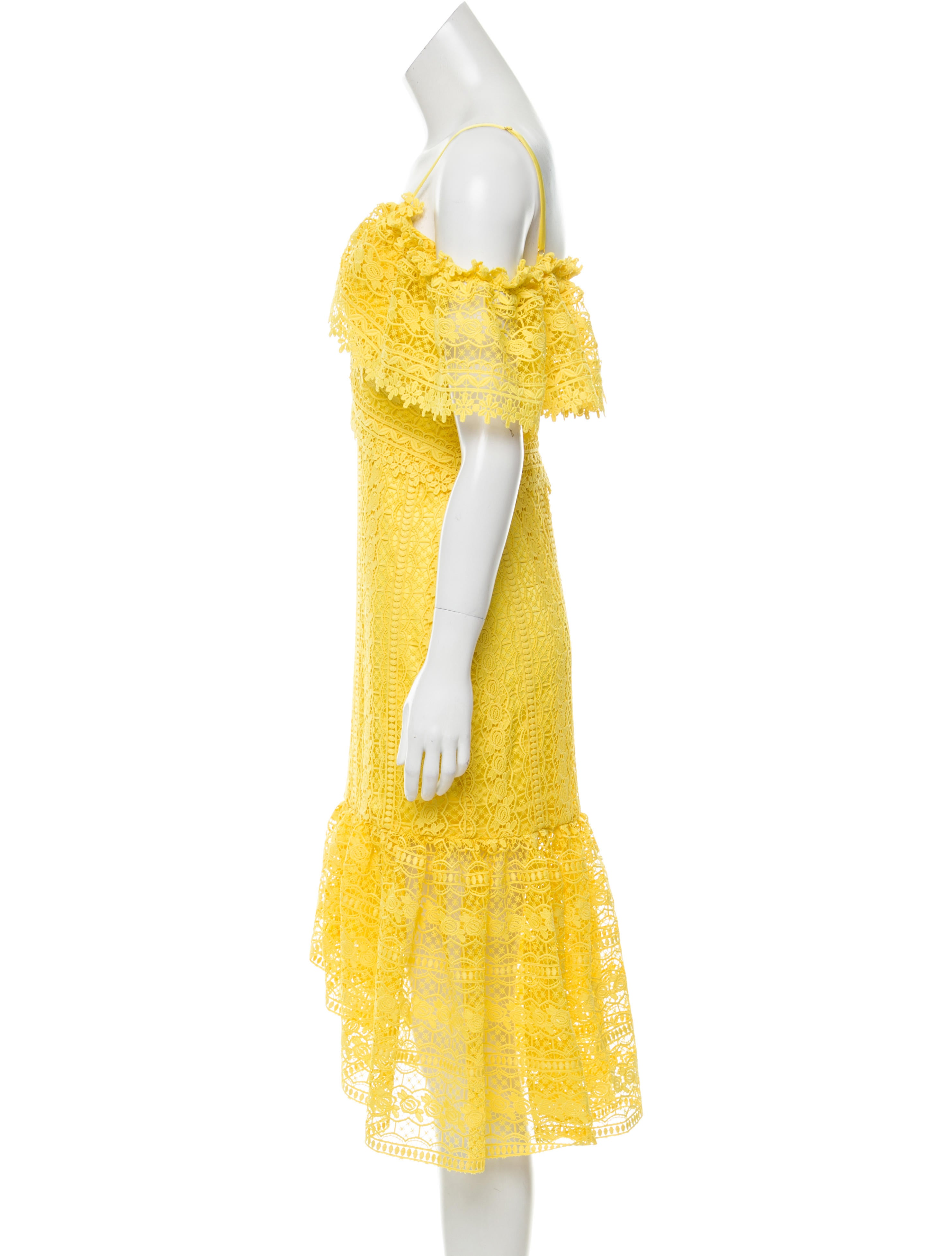 Three floor guipure lace midi dress w tags clothing for Three floor yellow dress
