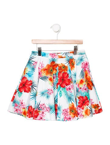 Girls' Tropical Print Skirt w/ Tags