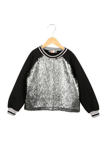 MSGM Girls' Sequined Crew Neck Sweatshirt w/ Tags None