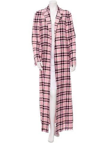 Plaid Long Coat w/ Tags