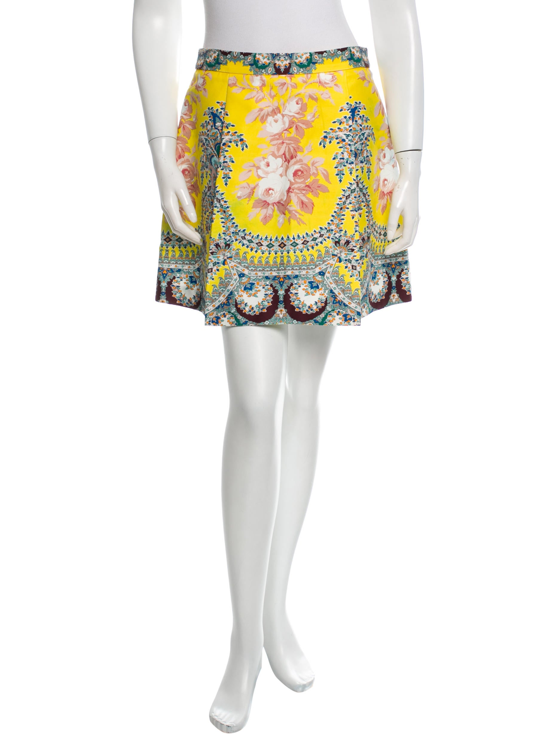 msgm floral mini skirt clothing w3g21345 the realreal