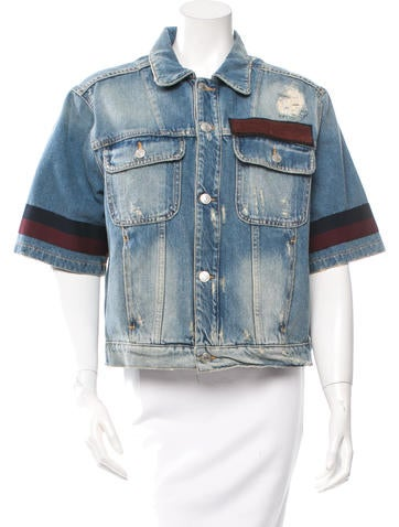 MSGM Short Sleeve Denim Jacket