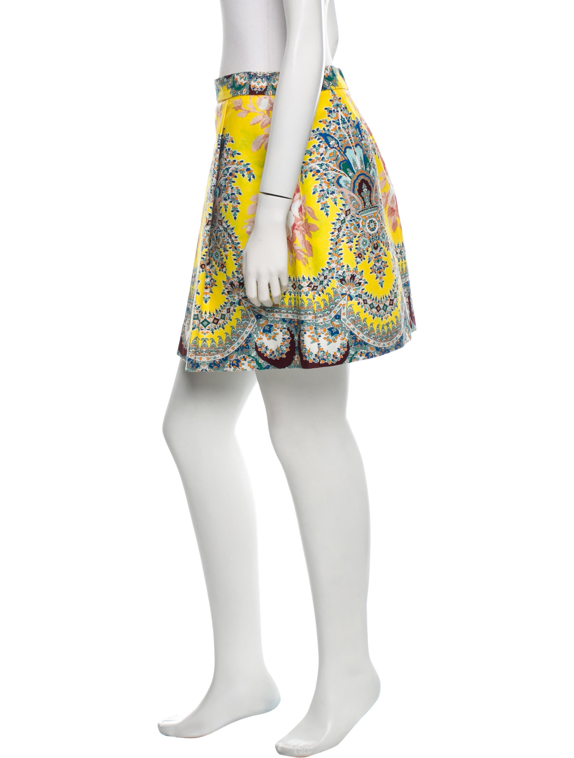 msgm floral mini skirt clothing w3g21459 the realreal