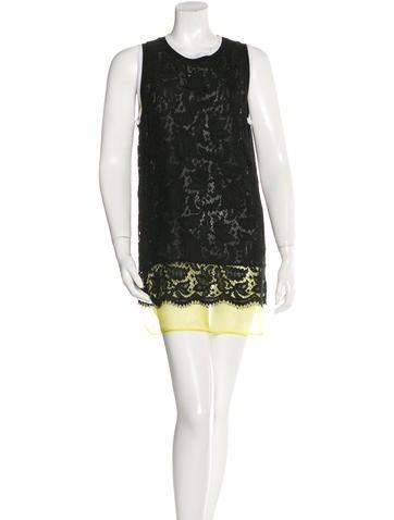 MSGM Lace Mini Dress None
