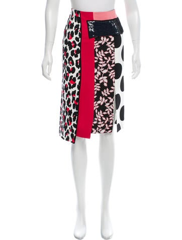 MSGM Printed Embellished Skirt w/ Tags