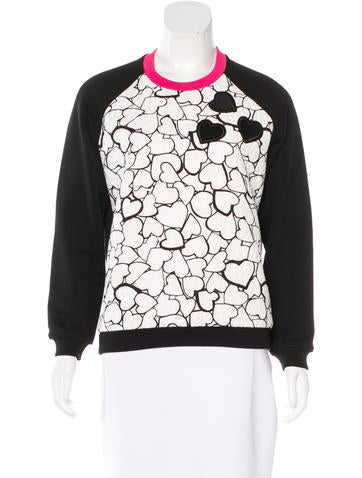 MSGM Graphic Embroidered Sweatshirt None